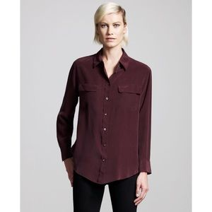 Equipment Signature Silk Shirt Blouse Sz Sm